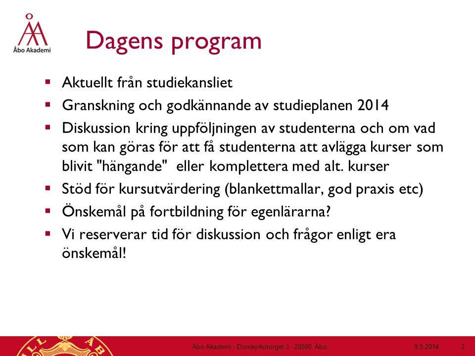 9.5.2014Åbo Akademi - Domkyrkotorget 3 - 20500 Åbo 13 2 3 4