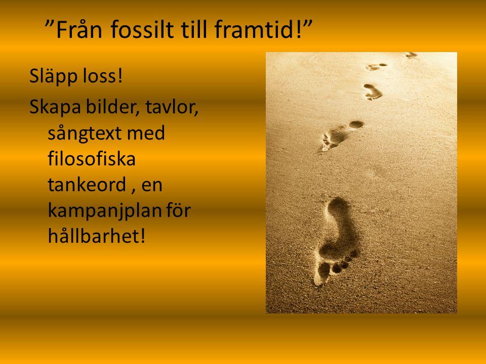 Från fossilt till framtid! Släpp loss.
