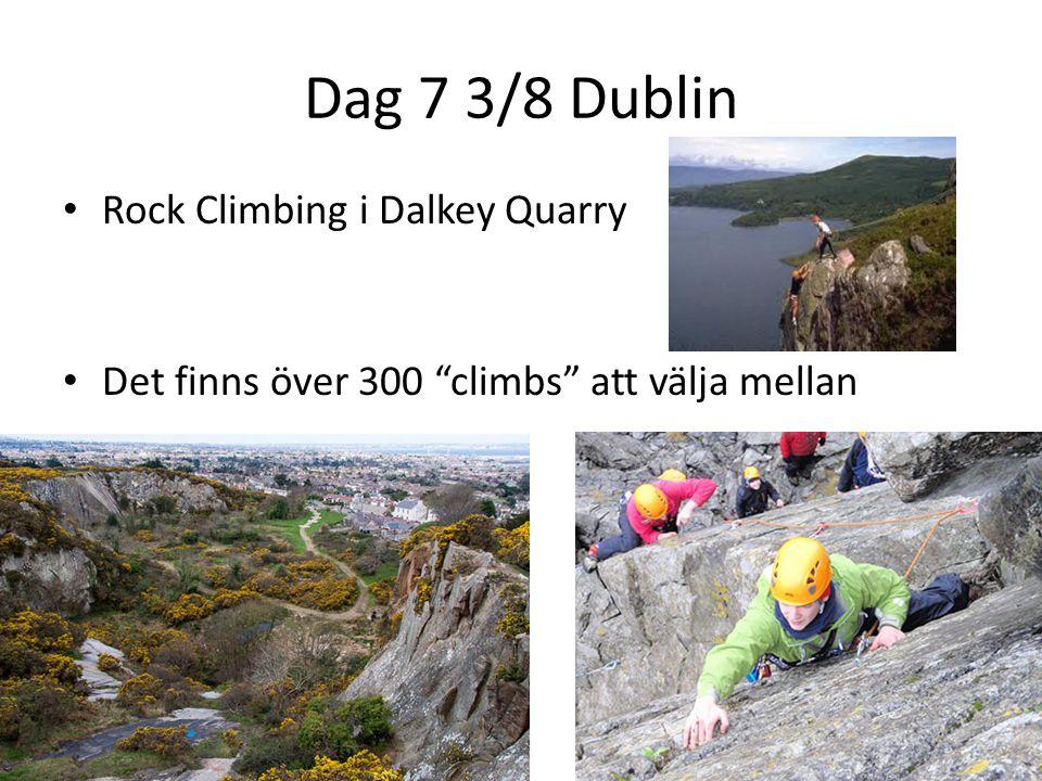 """Dag 7 3/8 Dublin Rock Climbing i Dalkey Quarry Det finns över 300 """"climbs"""" att välja mellan"""
