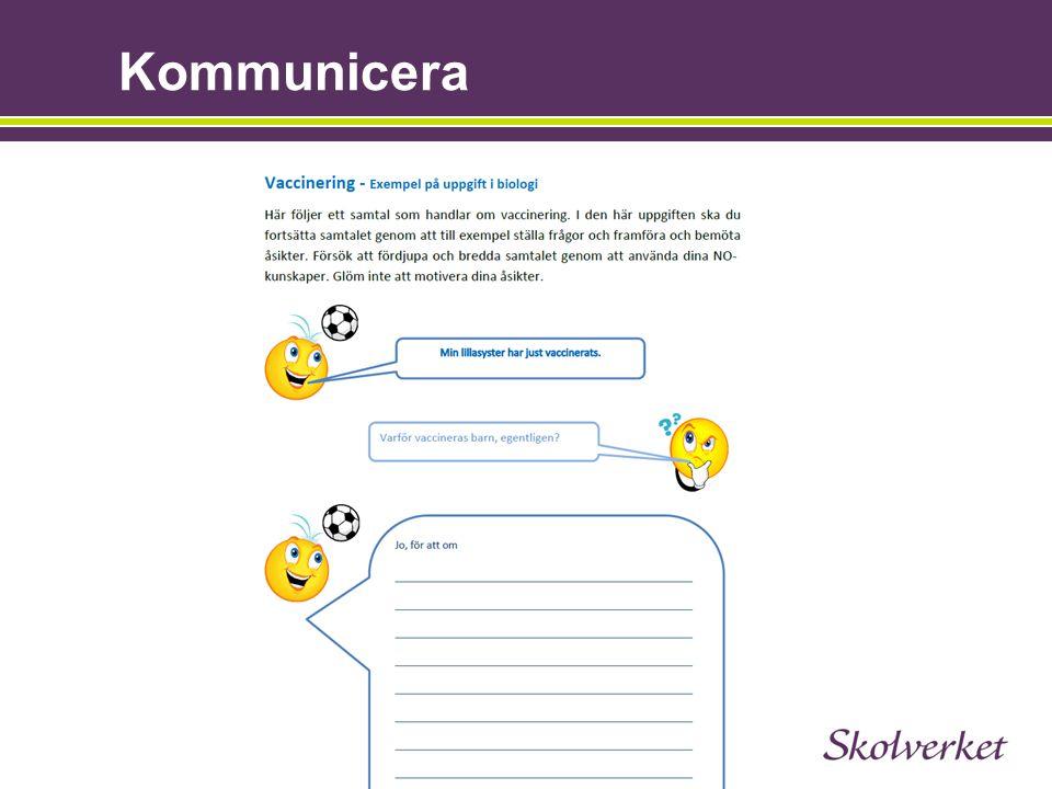 Kommunicera