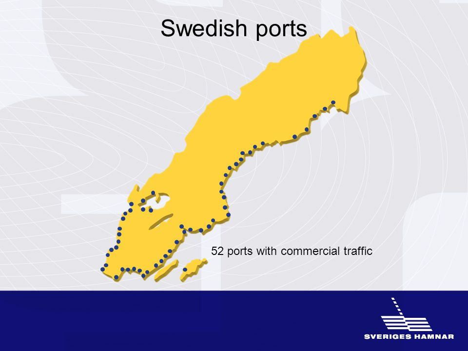 Swedish ports 52 ports with commercial traffic