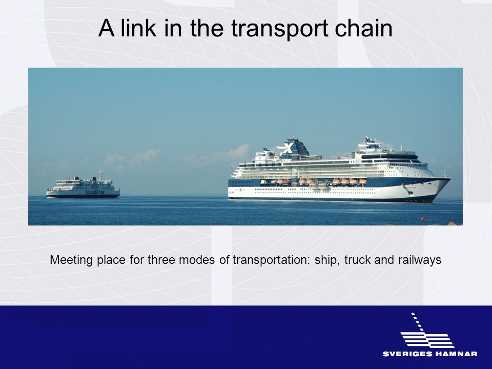 Working together with many players Industry and trade Transport industry Shipping-related companies and organizations Politicians Municipalities Government departments and authorities Associated organizations Trade unions General public