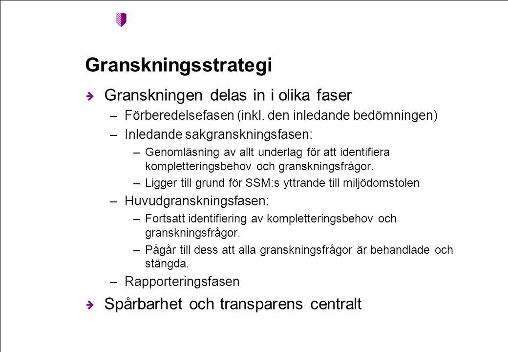 Granskningsstrategi Granskningen delas in i olika faser –Förberedelsefasen (inkl.