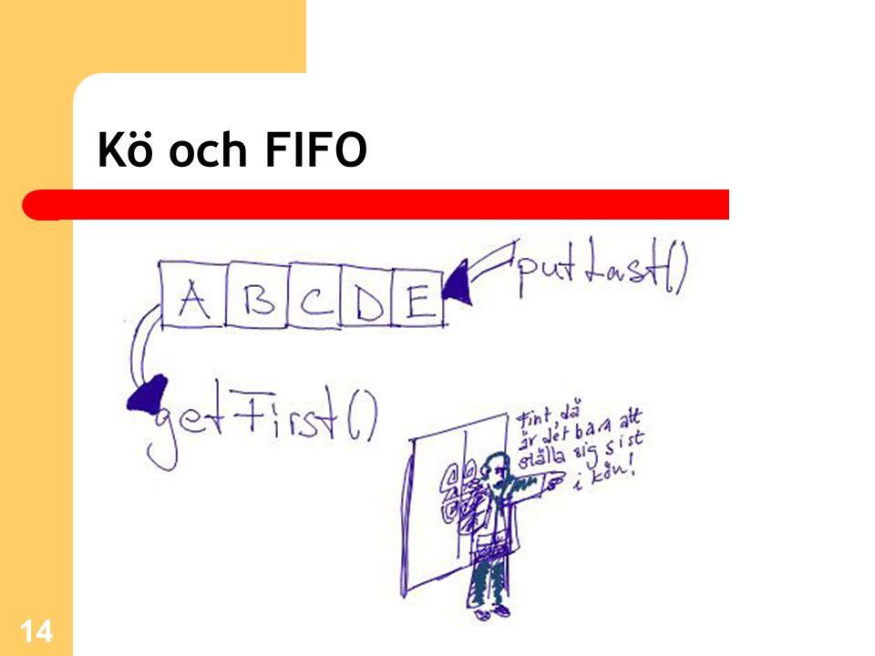 14 Kö och FIFO