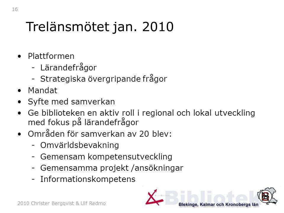 2010 Christer Bergqvist & Ulf Redmo 16 Trelänsmötet jan.