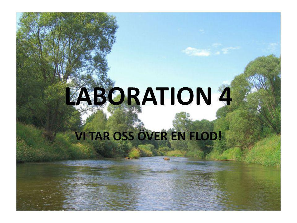 LABORATION 4 VI TAR OSS ÖVER EN FLOD!