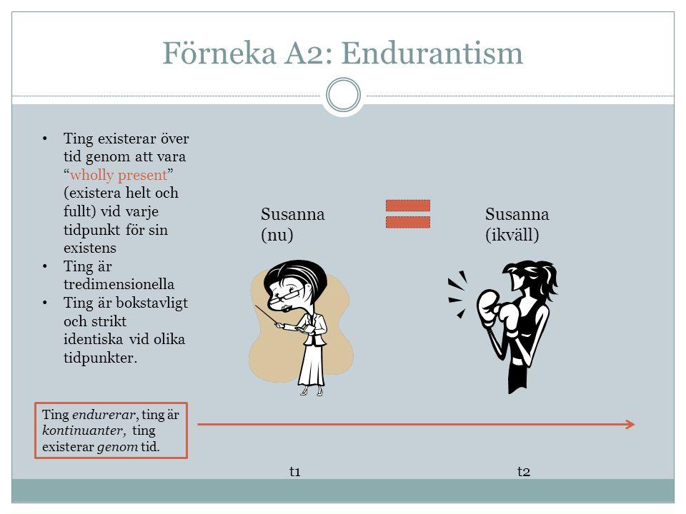 Endurantism och A2 t1 t2 vara-rak-vid vara-böjd-vid är rak är inte rak