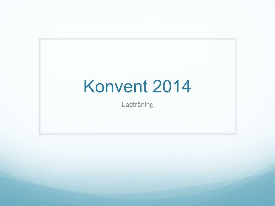 Konvent 2014 Lådträning