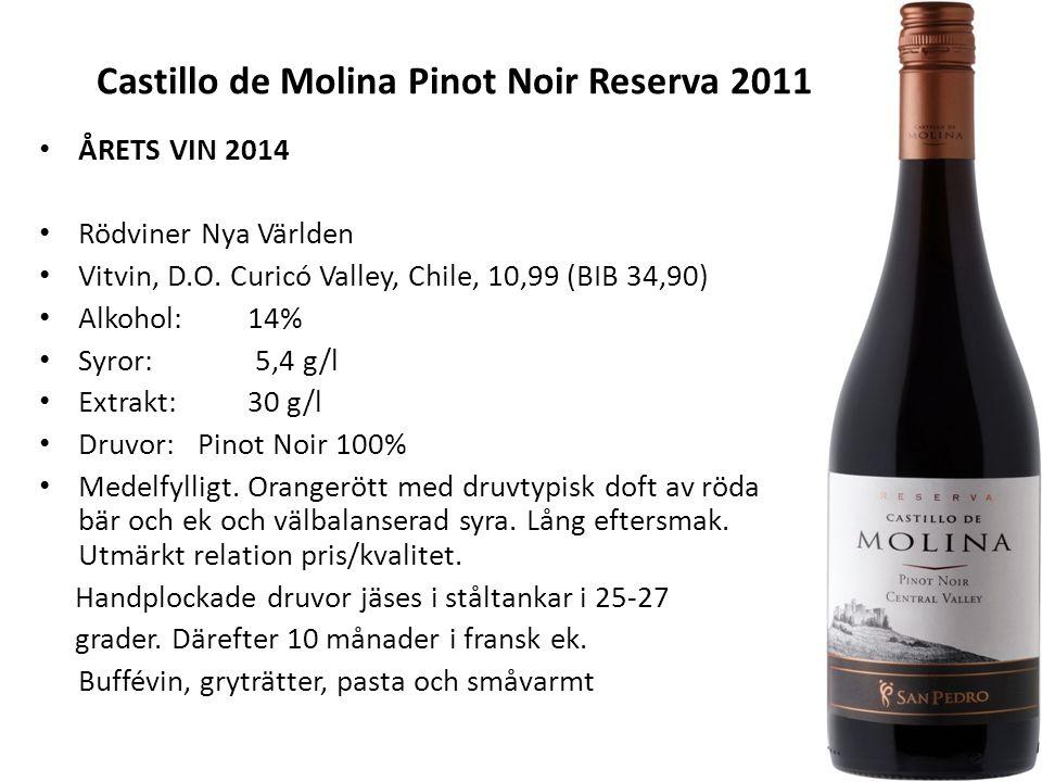 Castillo de Molina Pinot Noir Reserva 2011 ÅRETS VIN 2014 Rödviner Nya Världen Vitvin, D.O.