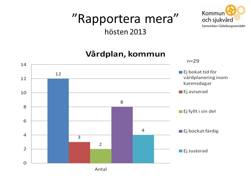 Rapportera mera hösten 2013