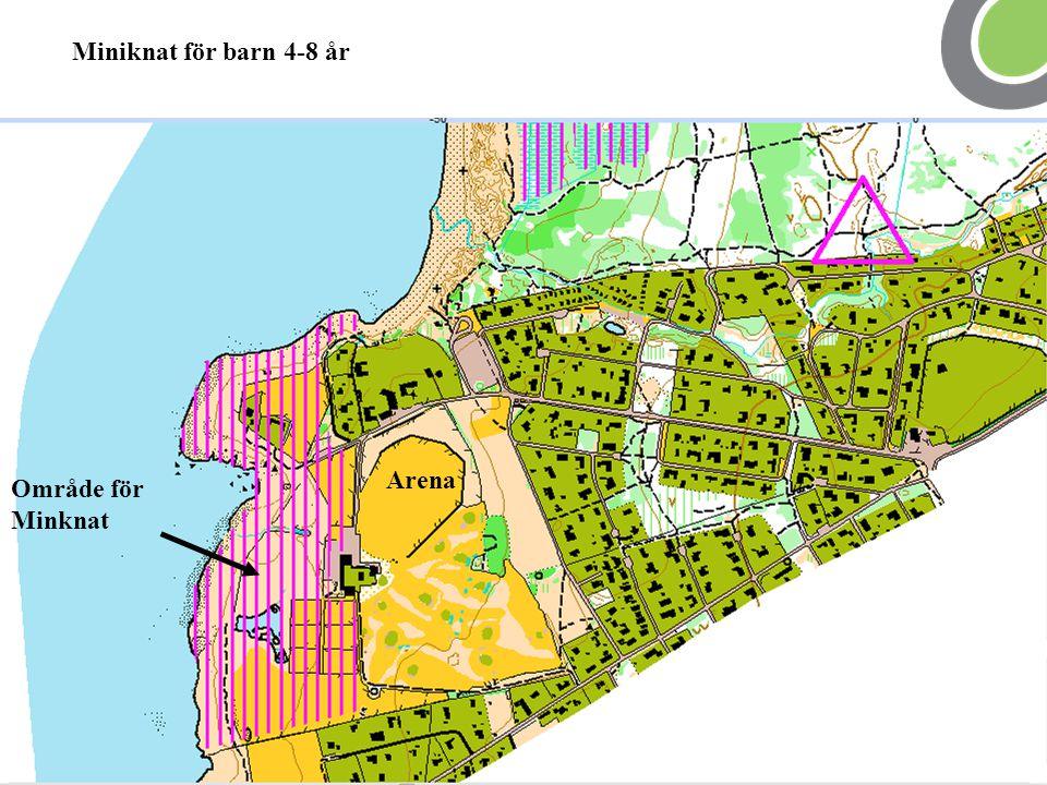 Område för Minknat Arena Miniknat för barn 4-8 år