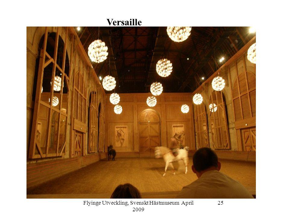 Flyinge Utveckling, Svenskt Hästmuseum April 2009 25 Versaille