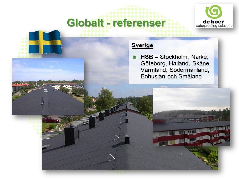Sverige HSB – Stockholm, Närke, Göteborg, Halland, Skåne, Värmland, Södermanland, Bohuslän och Småland Globalt - referenser