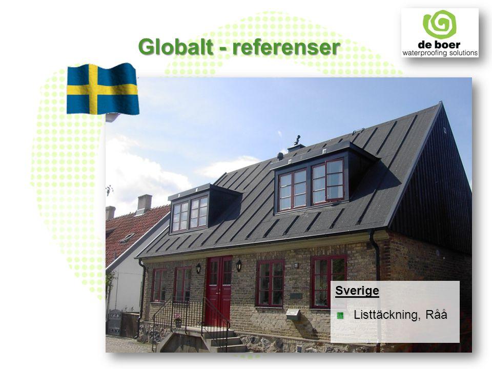 De Boer - Sverige De Boer etablerades i Sverige 1997 20 entrepenörer från Malmö i söder till Umeå i norr Över 6.000.000 m² installerade tak Typgodkända produkter: DuO F1 Debovix SBS 5500 Deboflex SBS 5000 Specialprodukter: Kompletta sedumsystem för Gröna Tak DuO Landscape och DuO B&T