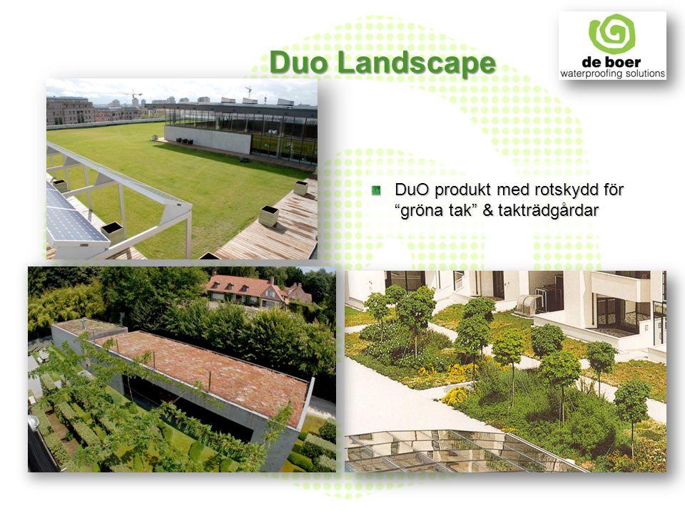 """DuO produkt med rotskydd för """"gröna tak"""" & takträdgårdar Duo Landscape"""