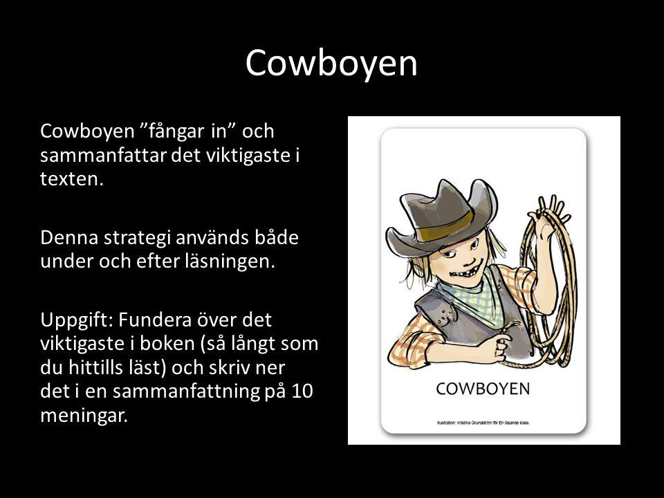 Cowboyen Cowboyen fångar in och sammanfattar det viktigaste i texten.