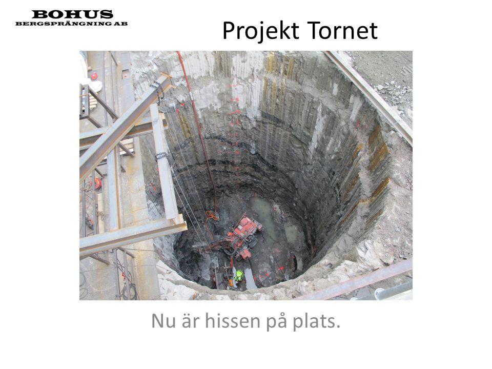 Projekt Tornet Nu är hissen på plats.