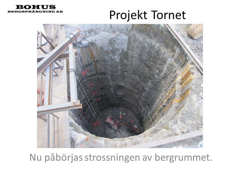 Projekt Tornet Nu påbörjas strossningen av bergrummet.
