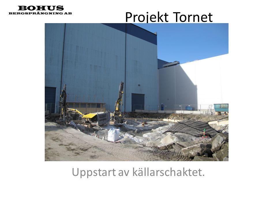 Projekt Tornet Uppstart av källarschaktet.