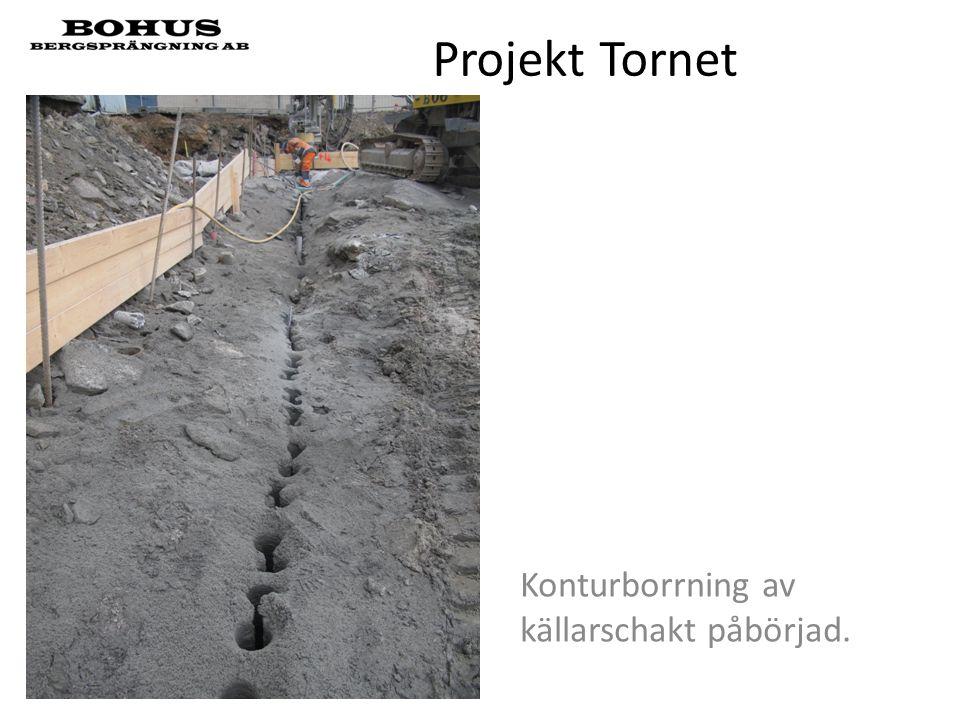 Projekt Tornet Konturborrning av källarschakt påbörjad.