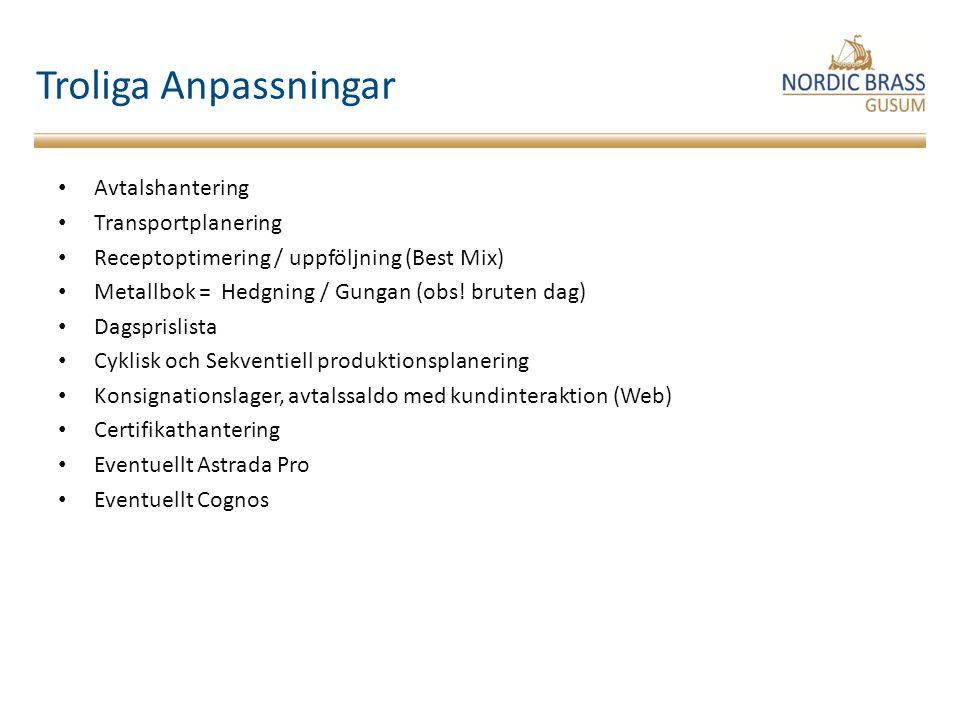 Utredning Lagerhantering CDML-100 Logistik Teknik Ekonomi Produktion Marknad Upphandling / Inköp Insatsmaterial – hedgning (I) Plan till produktion, SMV, PV, STV, MV (P) Godsmottagning / Lagerhantering / Leveranshantering (L) Upphandling / Inköp Insatsmaterial – hedgning (I) Plan till produktion, SMV, PV, STV, MV (P) Godsmottagning / Lagerhantering / Leveranshantering (L) Försörjnings- Flöde Supply Management SMM Lagerhantering Revidering av lagerartiklar CDM L-080 Lager hantering Rapportering lageruttag CDM L-060 Underhåll av lagerartiklar CDM L-050 Uppläggning av ny artikel CDM L-090 Artikel- register Lager- hantering Underhåll av lagersaldon CDM L-040 Inventering CDM L-070