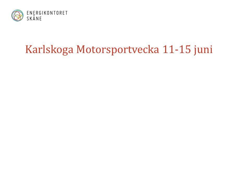 Karlskoga Motorsportvecka 11-15 juni
