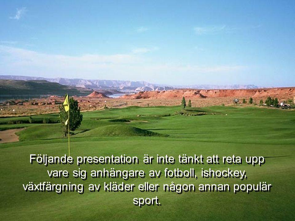 Följande presentation är inte tänkt att reta upp vare sig anhängare av fotboll, ishockey, växtfärgning av kläder eller någon annan populär sport.