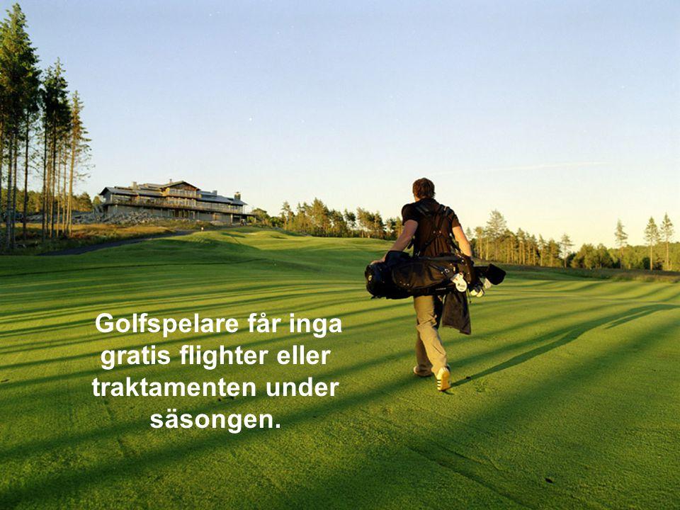 Professionella golfare tjänar pengar efter sin egen förmåga och placering. Inte lagets.