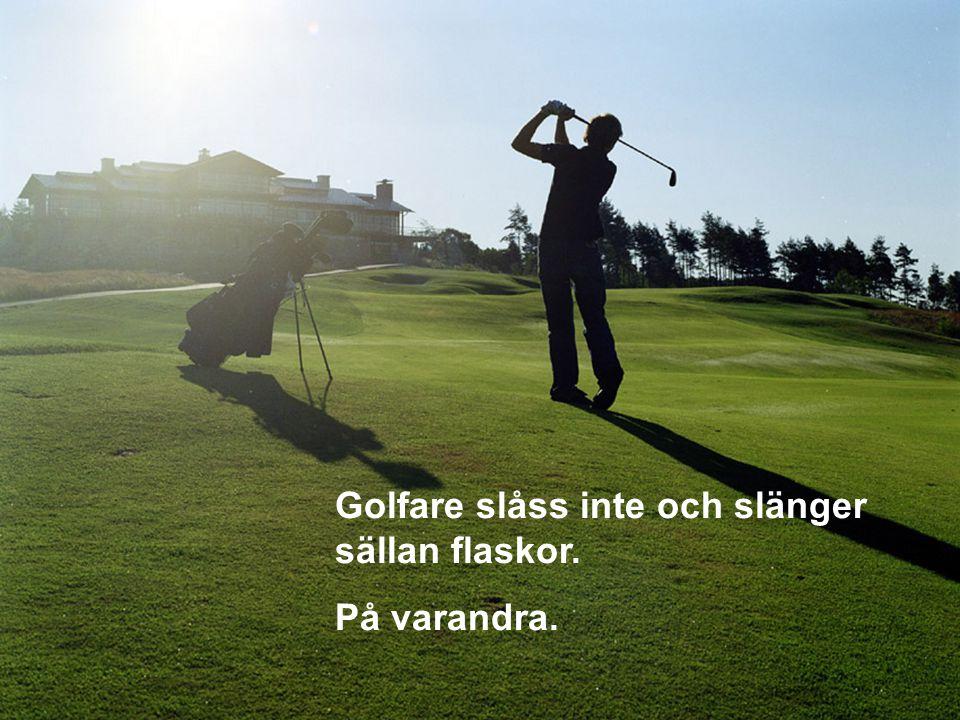 När en golfspelare gör ett misstag finns där ingen annan att skylla på.