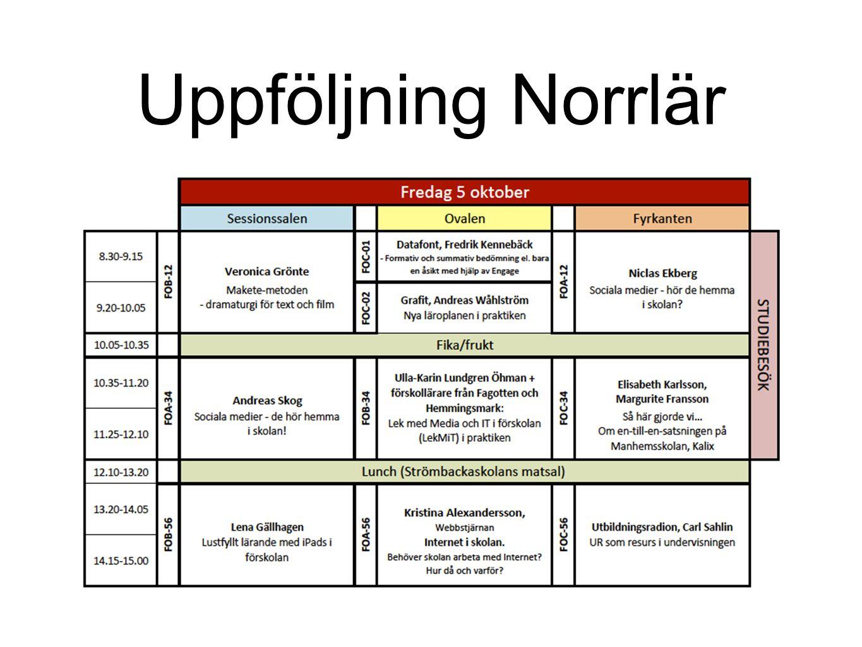 Uppföljning Norrlär