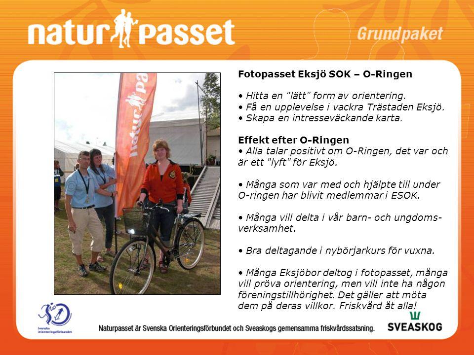 Fotopasset Eksjö SOK – O-Ringen Hitta en lätt form av orientering.