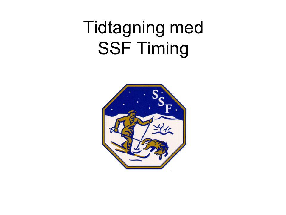 Tidtagning med SSF Timing