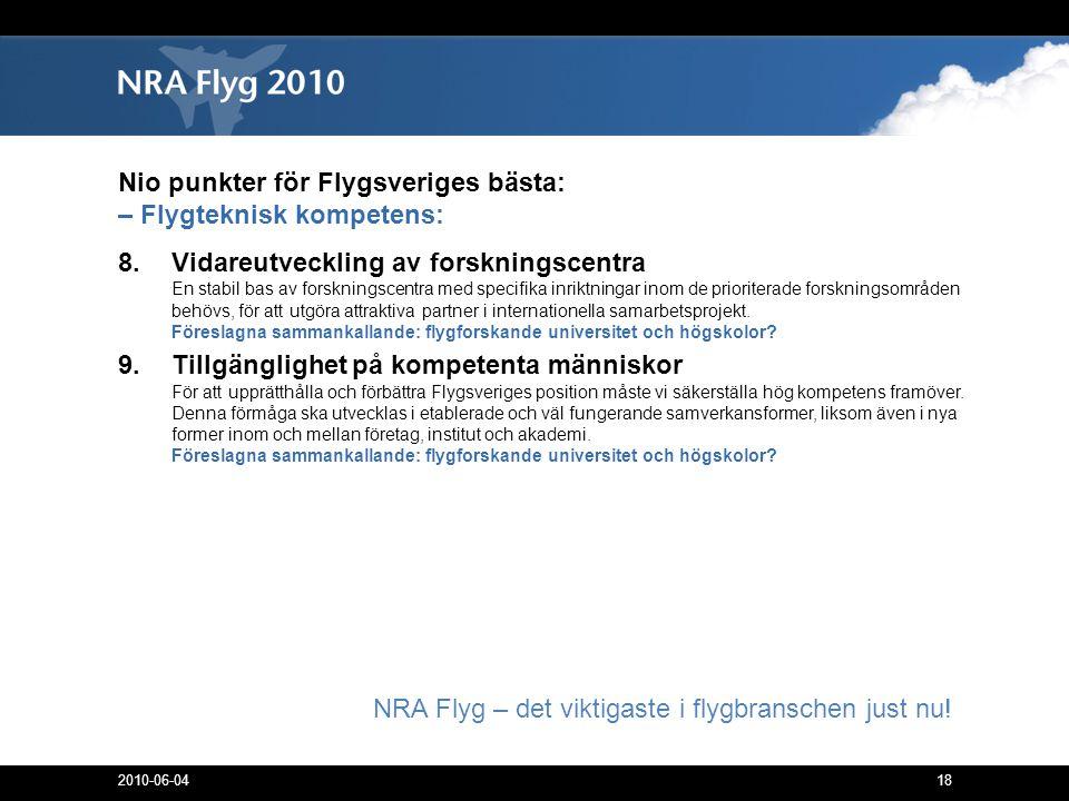 18 NRA Flyg – det viktigaste i flygbranschen just nu.