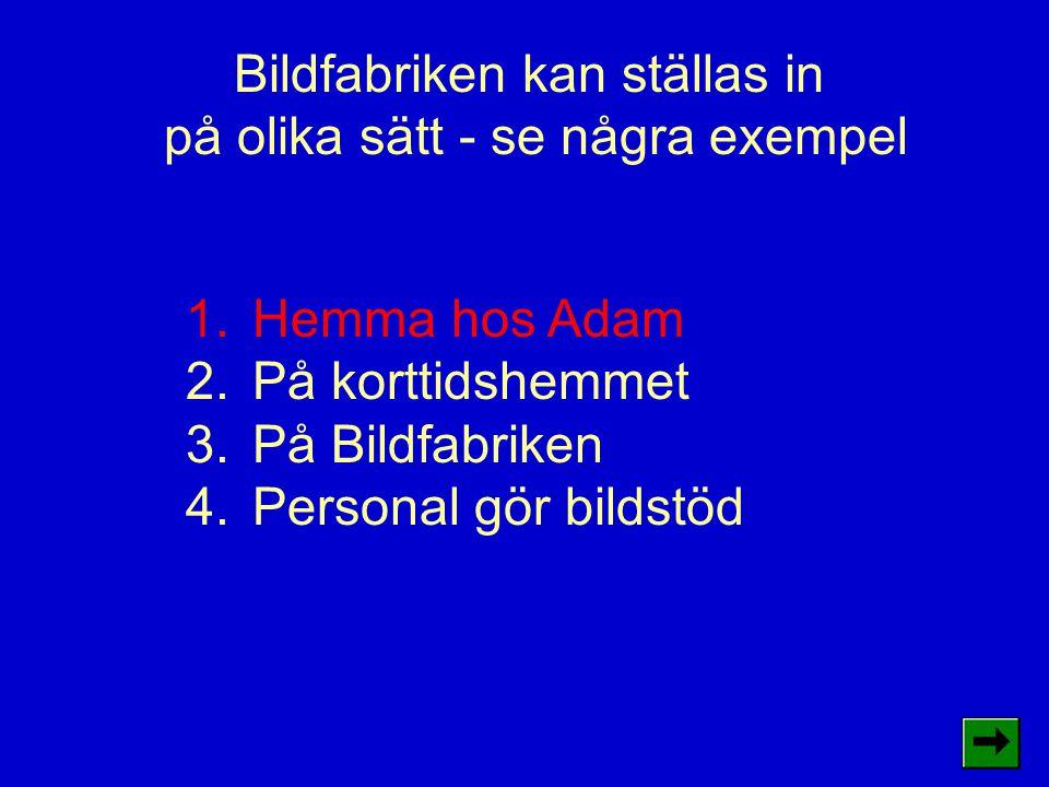 1.Hemma hos Adam Adam skriver ut sina bilder själv.