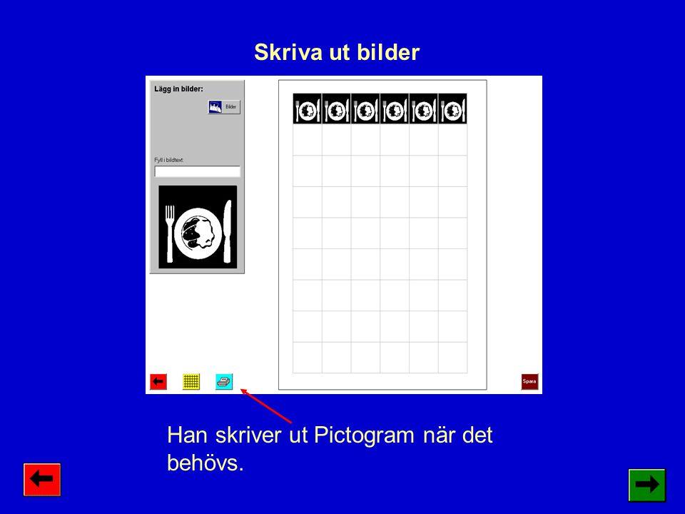Individuella inställningar kan man göra i alla program i Bildfabriken.