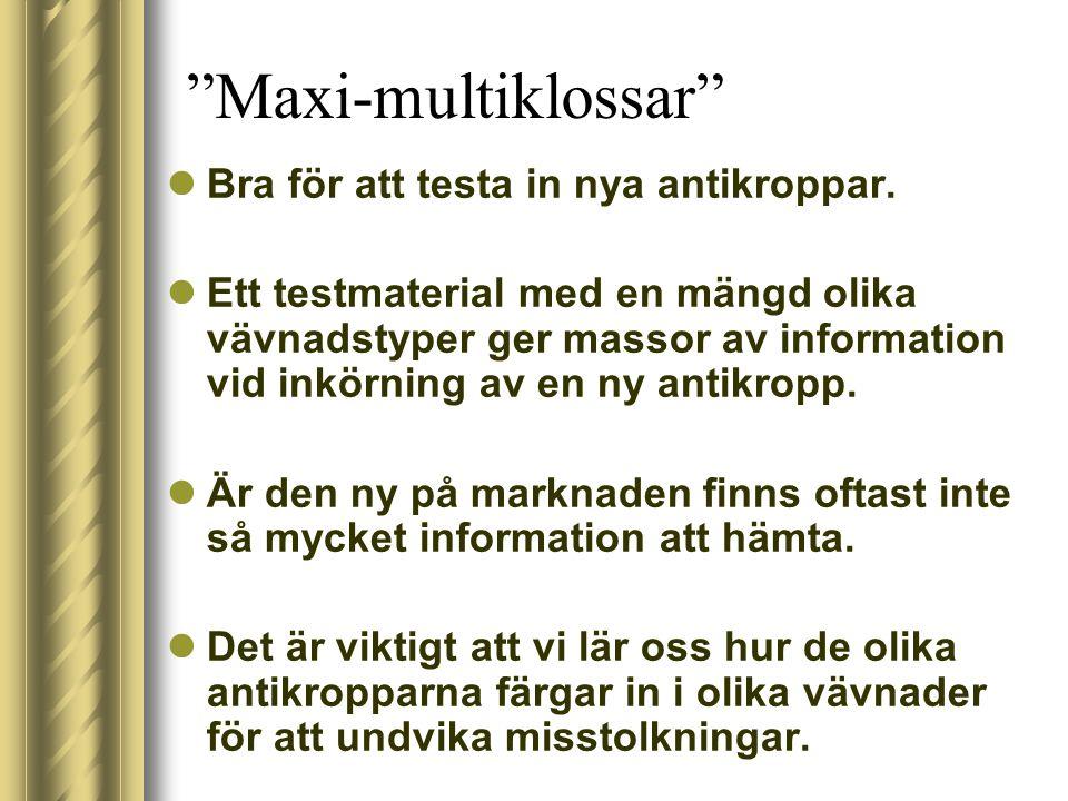 Søren Nielsen / Aalborg Sygehus utmärkta och genomarbetade förslag på olika vävnadsinnehåll Följer utdrag ur Sören´s multikloss föredrag