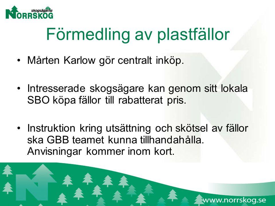 Förmedling av plastfällor Mårten Karlow gör centralt inköp.