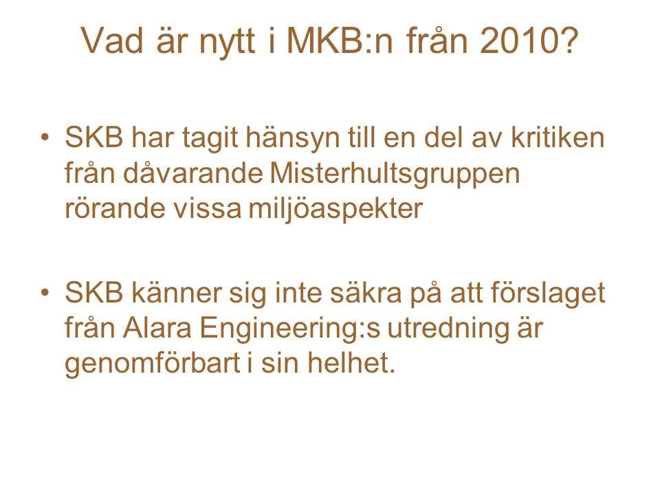 Vad är nytt i MKB:n från 2010.