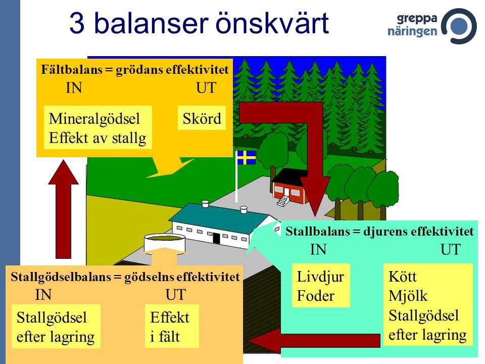 50 mjölkgårdar 1997 – 2003 Kväveöverskott per ha 7000 kg mjölk/ha, 50 % vall, 35 % spannmål Källa: Christian Swensson, Svensk Mjölk