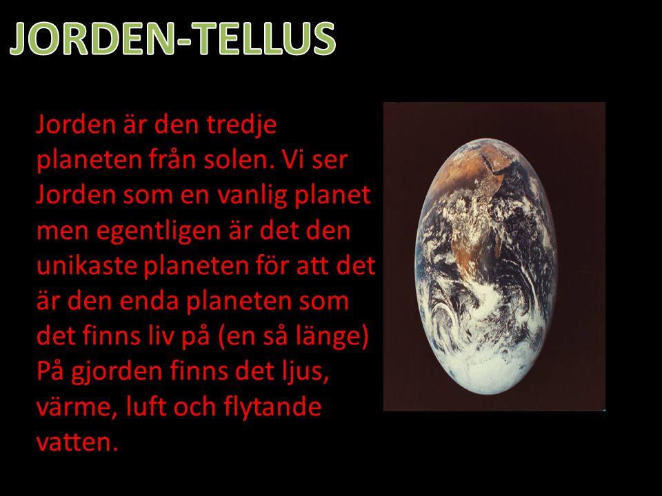 Jorden är den tredje planeten från solen. Vi ser Jorden som en vanlig planet men egentligen är det den unikaste planeten för att det är den enda plane