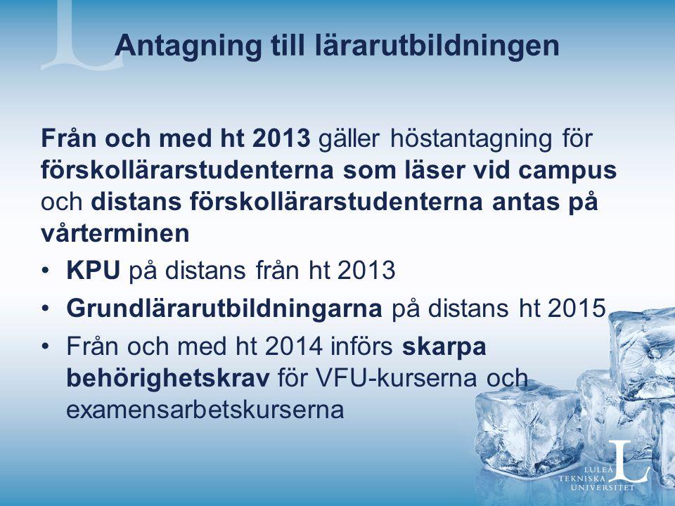 VFU-hemsidan Handbok för respektive inriktning Underlag för trepartssamtal Bedömningsunderlag Kursplaner Planeringsunderlaget – dokumentet uppdateras och följer med till efterföljande VFU- kurser.