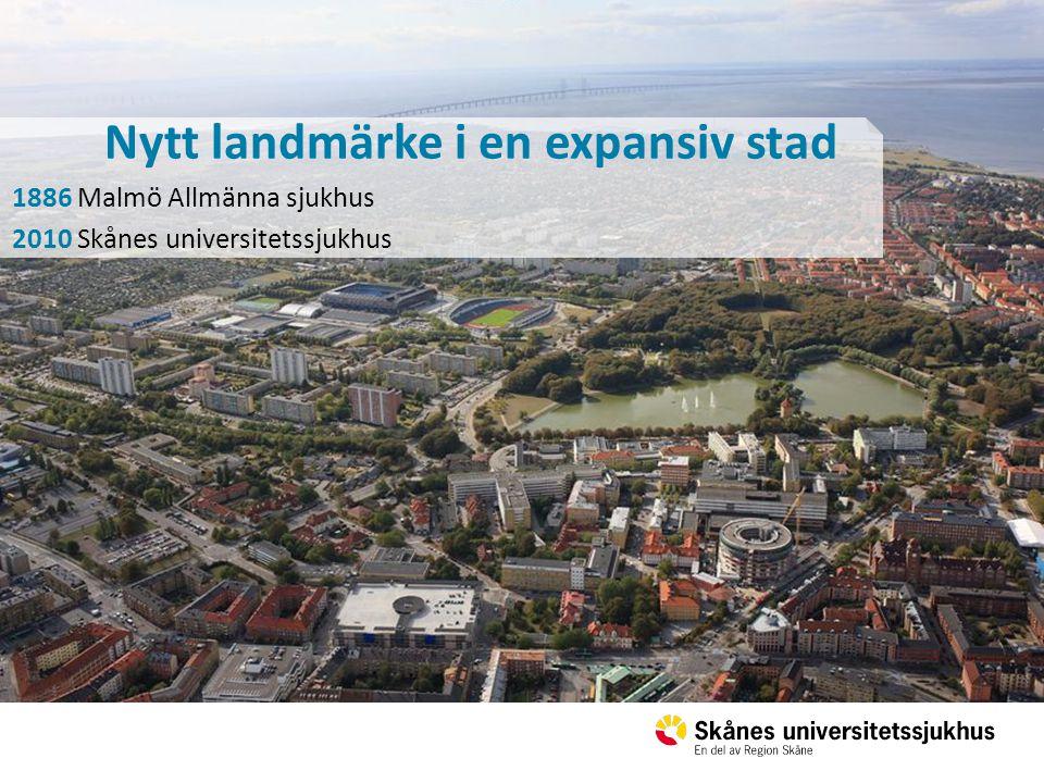 Nytt landmärke i en expansiv stad 1886 Malmö Allmänna sjukhus 2010 Skånes universitetssjukhus