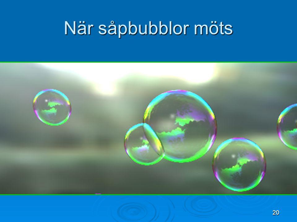 20 När såpbubblor möts