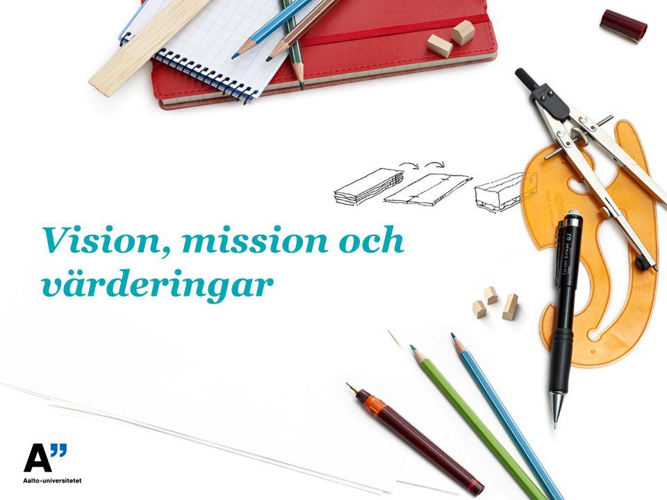 Vision, mission och värderingar