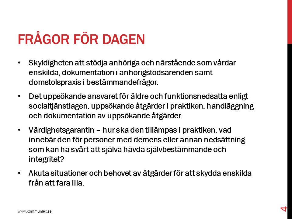 FÖRARBETENA TILL INFÖRANDET AV BESTÄMMELSEN www.kommunlex.se 45 Regeringens proposition 2008/09:82, Stöd till personer som vårdar eller stödjer närstående.