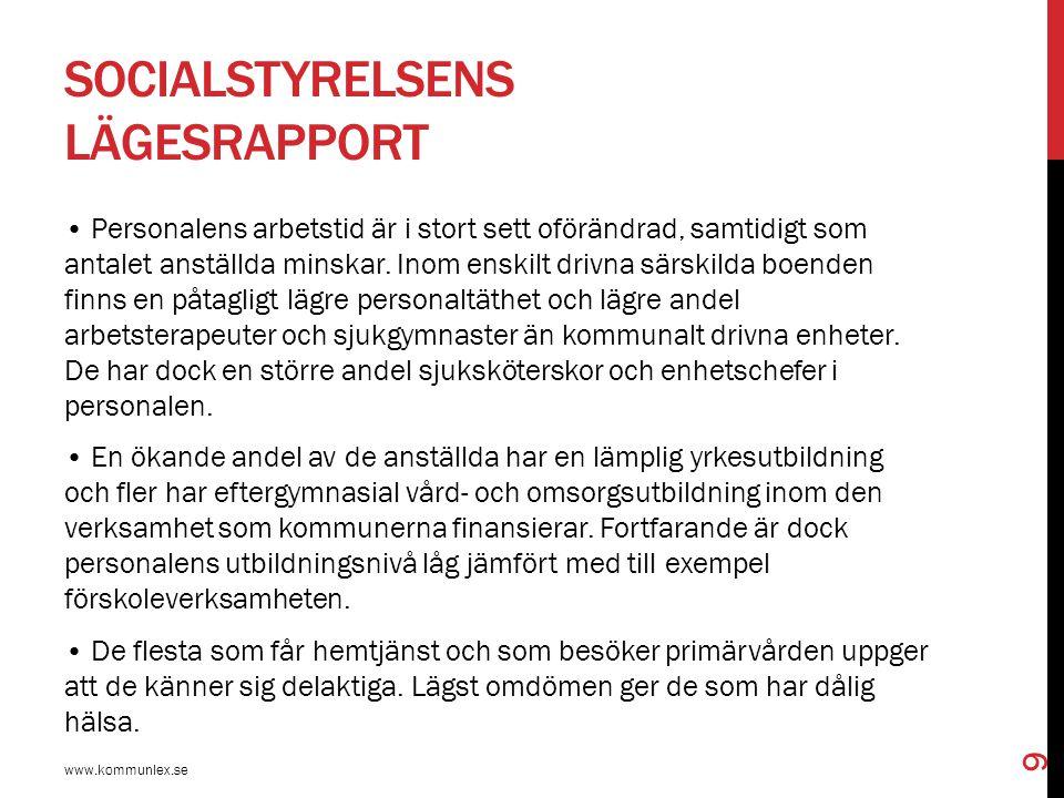 BOENDE FÖR ÄLDRE OCH DEMENTA www.kommunlex.se 20 Endast tre grupper kan sägas ha en lagstadgad allmän rätt till bostad.