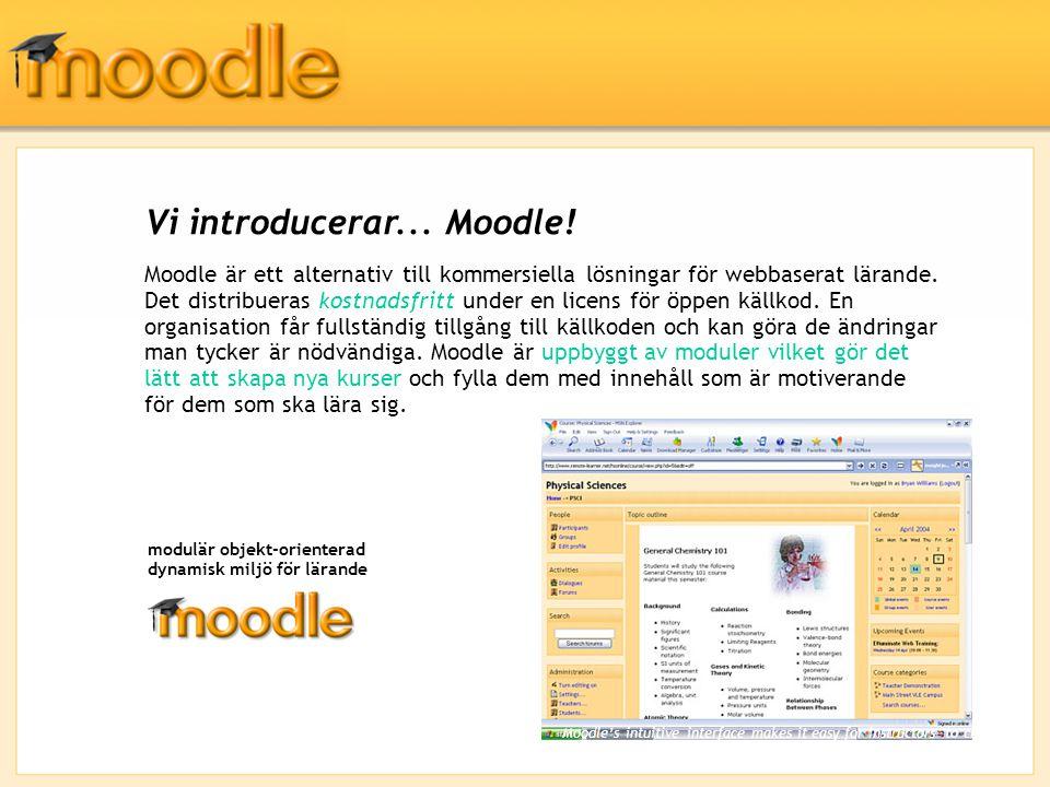 Vi introducerar... Moodle.