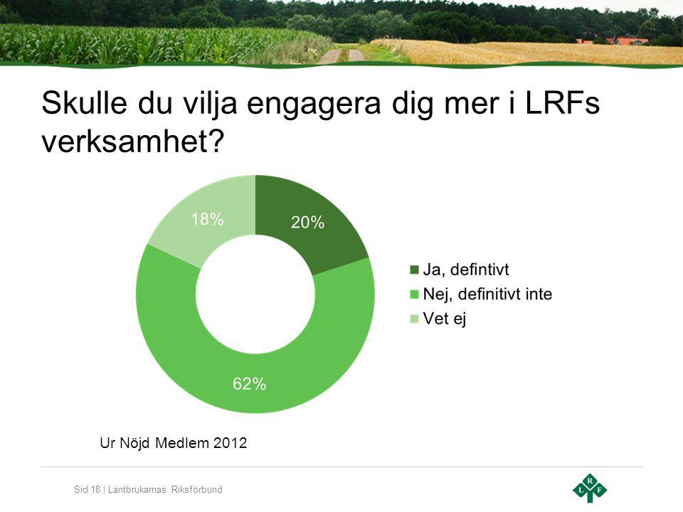 Sid 18 | Lantbrukarnas Riksförbund Skulle du vilja engagera dig mer i LRFs verksamhet.