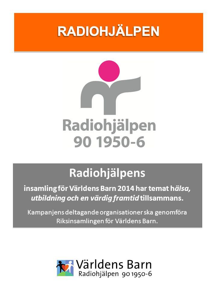 Radiohjälpens insamling för Världens Barn 2014 har temat hälsa, utbildning och en värdig framtid tillsammans. Kampanjens deltagande organisationer ska