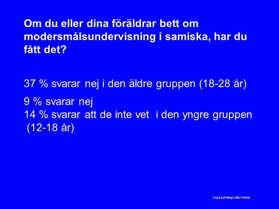 Om du eller dina föräldrar bett om modersmålsundervisning i samiska, har du fått det.